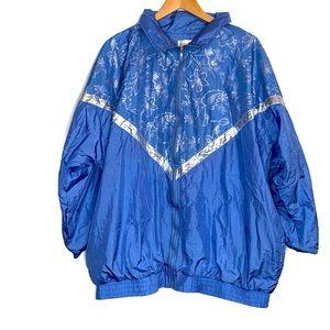 VINTAGE Track Suit Lined 1X 2 PIECE Blue Silver